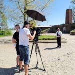 """Zdjęcia z przygotowań do programu """"Gdzie był Bóg, kiedy działo się w Aushwitz?"""""""